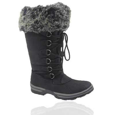 Women Winter Boots Comfy Moda Blue Mountain Size 6-12 in Black