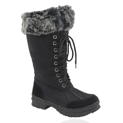 Women Winter Boots Comfy Moda Century Size 6-12 in Black