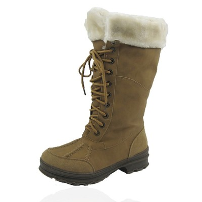 Women Winter Boots Comfy Moda Century Size 6-12 in Tan