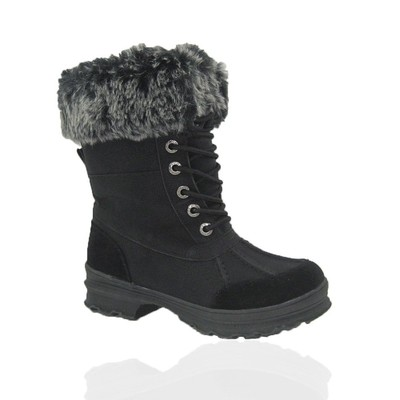 Women Winter Boots Comfy Moda Everest Size 6-12 in Black