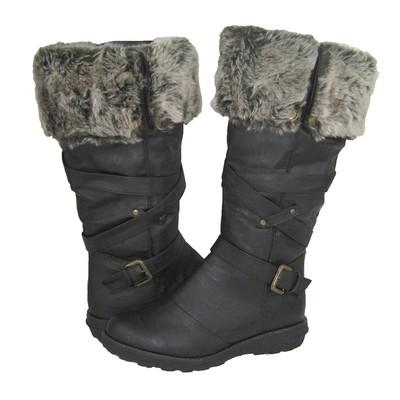Women Winter Boots Comfy Moda Jessica Size 6-12 in Dark Brown Regular Calf