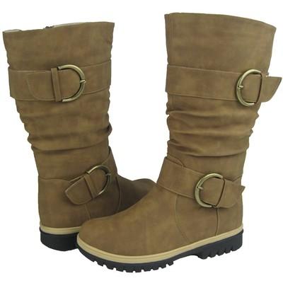 Women Winter Boots Comfy Moda Lora Size 6-11 in Tan