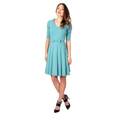Tetiana K Women's Bow Belt Dress, Seafoam Green
