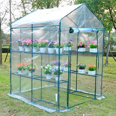 4.7' x 4.7' x 6.4' Portable Walk-in Flower Garden Greenhouse