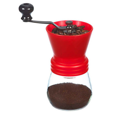 Grosche Bremen Manual Ceramic Burr Coffee Grinder, Red, 100g
