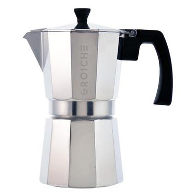 Grosche Milano Stovetop Espresso Maker, Silver, 6 cup