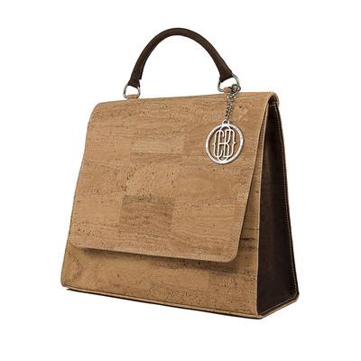 Cork Handbag Satchel Structured Large Vegan Gift