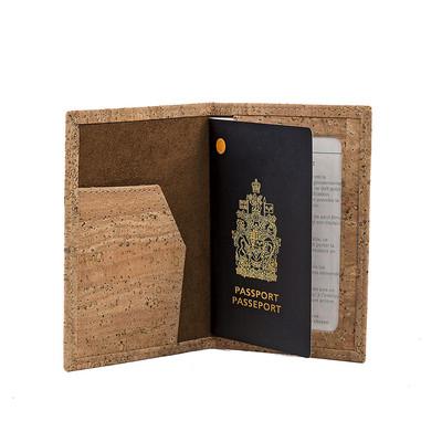 Cork Passport Holder Cover Vegan Gift