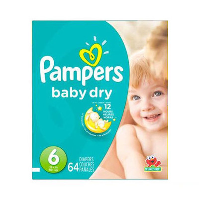 Pampers Baby Dry Diapers - Size 6 64 Diapers - Size 6 - Super Pack