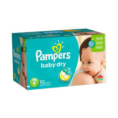 Pampers Baby Dry Diapers - Size 2 112 Diapers - Size 2 - Super Pack
