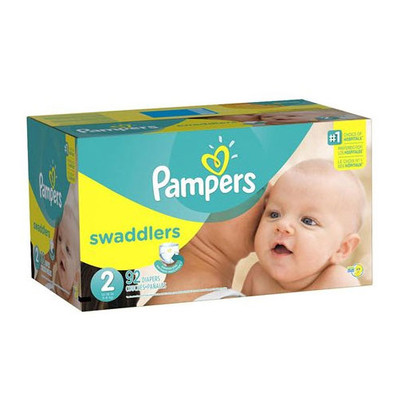 Pampers Swaddlers Diapers - Size 2 92 Diapers - Size 2 - Super Pack