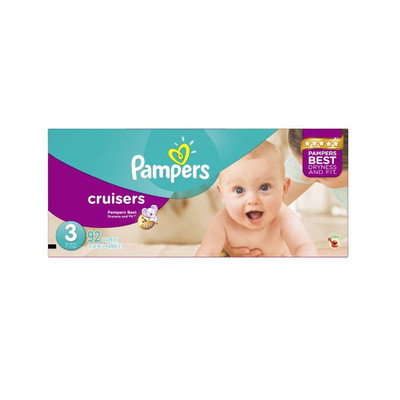 Pampers Cruisers Diapers - Size 3 92 Diapers - Size 3 - Super Pack