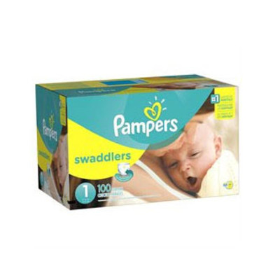 Pampers Swaddlers Diapers - Size 1 100 Diapers - Size 1 - Super Pack
