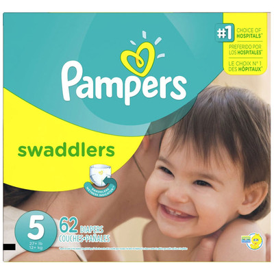 Pampers Swaddlers Diapers - Size 5 62 Diapers - Size 5 - Super Pack
