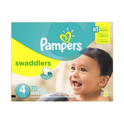 Pampers Swaddlers Diapers - Size 4 70 Diapers - Size 4 - Super Pack