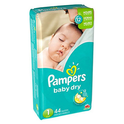 Pampers Baby Dry Diapers - Size 1 44 Diapers - Size 1 - Jumbo Pack