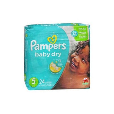Pampers Baby Dry Diapers - Size 5 24 Diapers - Size 5 - Jumbo Pack