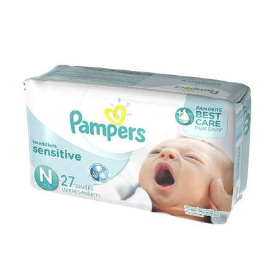 Pampers Swaddlers Sensitive Diapers - Size 0 27 Diapers - Size 0 - Jumbo Pack
