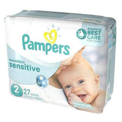 Pampers Swaddlers Sensitive Diapers - Size 2 27 Diapers - Size N - Jumbo Pack