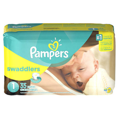 Pampers Swaddlers Diapers - Size 1 35 Diapers - Size 1 - Jumbo Pack