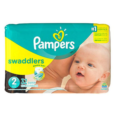 Pampers Swaddlers Diapers - Size 2 32 Diapers - Size 2 - Jumbo Pack