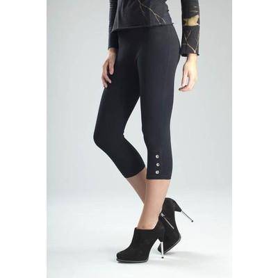Svelte's Grommet Capri Leggings with Built-in Shapewear