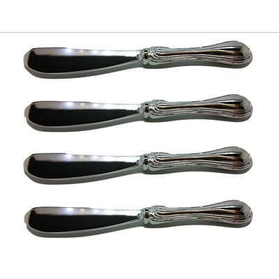 """Silver-Plated Rim Pate knifes Set, 5.25"""""""