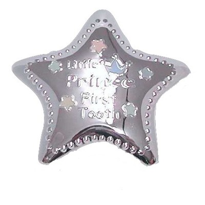 """Silver-Plated Little Prince Tooth Box - Star Shape, 2"""""""