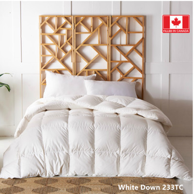 Canadian Standard White Down Duvet 233 TC 625 Loft  Queen size