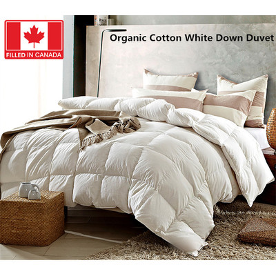 Organic Cotton Canadian White Down Duvet 233 TC 700 Loft Queen size
