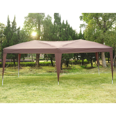 10' x 20' Canopy Tent without Walls - Coffee