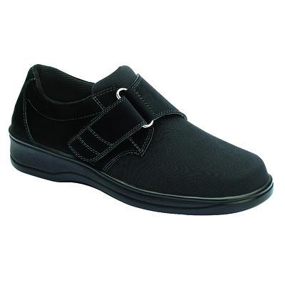 Orthopedic Footwear - Ortho Feet Women's Witchita Hook and Loop Velcro Washable Black