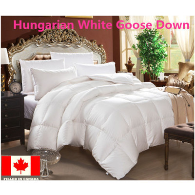 Hungarian White Goose Down Duvet 500TC 750 Loft Queen size