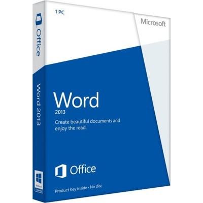 Microsoft Word 2013 Key Card