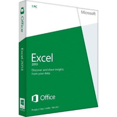 Microsoft Excel 2013 Key Card