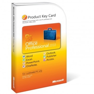 Microsoft Office 2010 Professional for 1 PC Key Card
