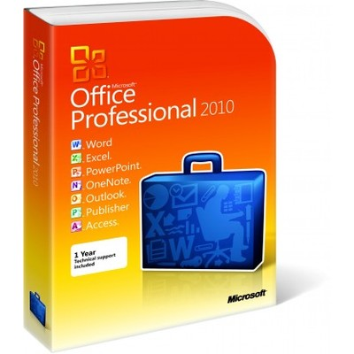 Microsoft Office 2010 Professional for 2 PC Retail Box