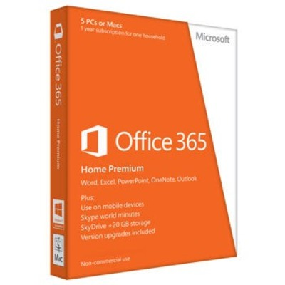 Microsoft Office 365 Home for 5 Device Key Card (1 Year)