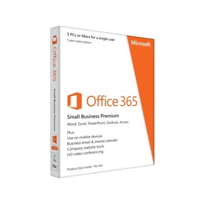 Microsoft Office 365 Small Business Premium for 5 Device Key Card (1 Year)