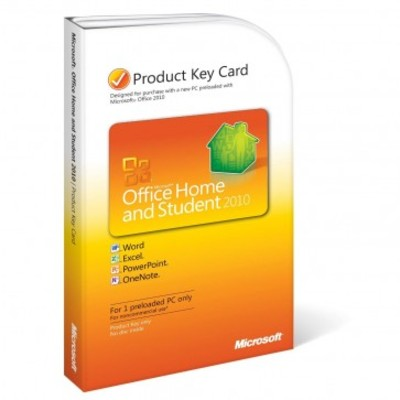 Microsoft Office 2010 Home and Student for 1 PC Key Card