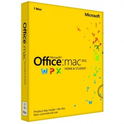 Microsoft Office 2011 for Mac: Home And Student for 1 Mac Key Card