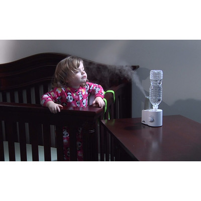 White - Air Innovations Clean Mist Personal Humidifier. 14-Hour Run Time. Great for Travel too.