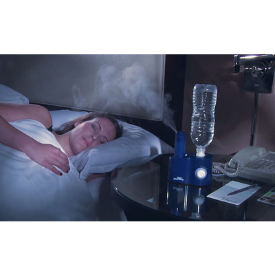 Blue - Air Innovations Clean Mist Personal Humidifier. 14-Hour Run Time. Great for Travel too.