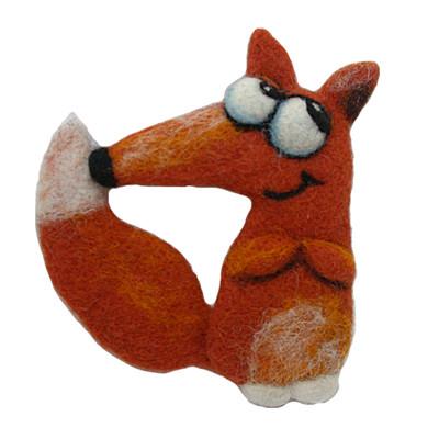 """FOXY THE FOX""  BROOCH"