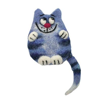 """CAT IN BLUE"" BROOCH"