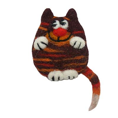 ORANGE CAT BROOCH