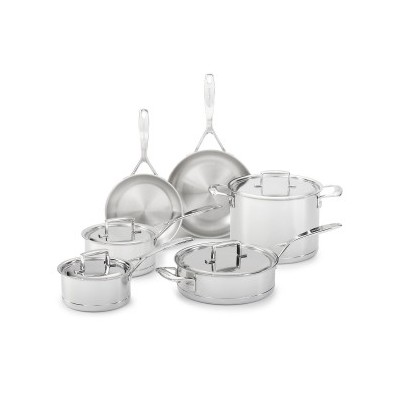 KitchenAid 7 Ply Stainless Steel 10 Piece Cookware Set