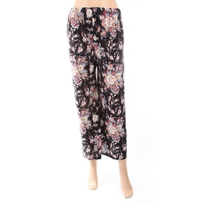 Luxanne Black Floral Loose Pants One Size