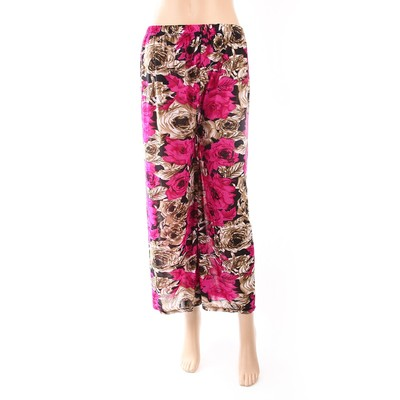 Luxanne Purple Floral Loose Pants One Size