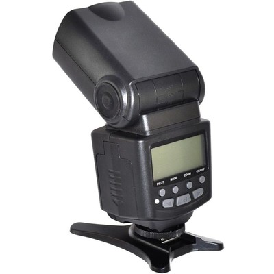 Pro Series Digital SLR Auto-Focus E-TTL Flash with LCD Display, Bounce, Zoom/Swivel for Canon DSLR, Black